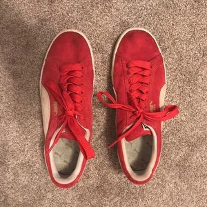 Puma Suede Red Sneakers